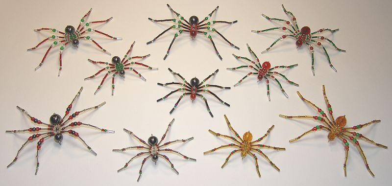 Beaded Christmas Spiders