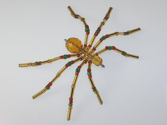 Small 'Gold' Style Christmas Spider Ornament