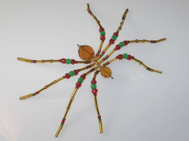 Medium 'Gold' Style Christmas Spider Ornament