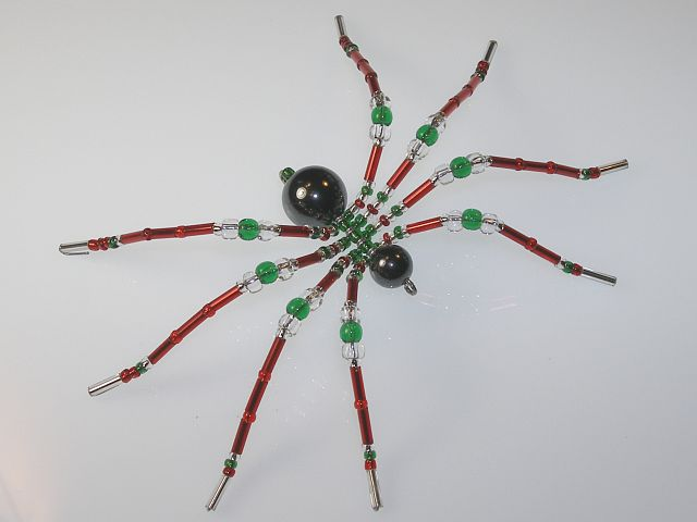 Red Color Style Christmas Spider